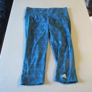 Blue & Green Adidas Capris SIze Large
